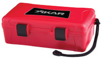 Xikar 10  Cigar Travel Humidor - Red