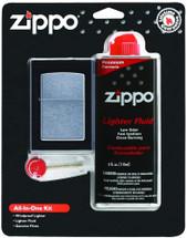Zippo All-in-One Gif Set - Shiny Chrome