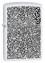 Zippo Classic - Scattered Letters