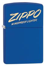 Zippo - Script Design Royal Blue