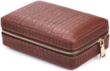 Four cigar travel case - Brown