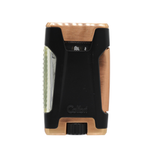 Colibri Rebel Double Jet Lighter - Rose Gold &  Black