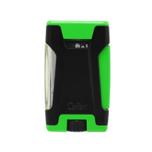 Colibri Rebel Double Jet Lighter - Green &  Black