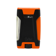 Colibri Rebel Double Jet Lighter - Orange &  Black