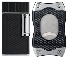 Colibri Julius & SV-Cut Gift Set - Black & Chrome