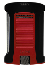 Colibri Daytona Single Jet Lighter - Matte Black & Metallic Red