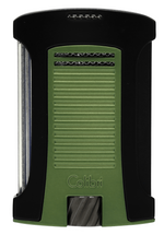 Colibri Daytona Single Jet Lighter - Matte Black & Olive Green