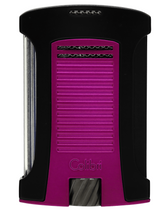 Colibri Daytona Single Jet Lighter - Matte Black & Metallic Pink