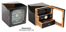 High Gloss Cigar Cabinet -Black