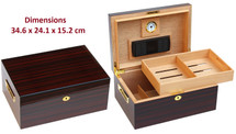 High Gloss Desktop Humidor - Cherry