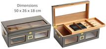 High Gloss Desktop Humidor - Carbon Fibre