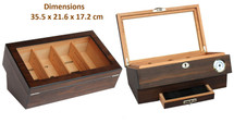 The Montfort Glass top humidor - Walnut