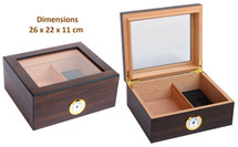 The Julius - Glass Top Humidor- Walnut