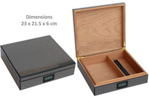 Small High Gloss Humidor- Carbon Fibre