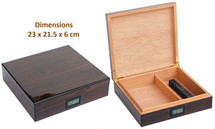 Small High Gloss Humidor-Walnut