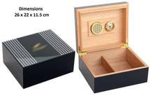 Glossy Desktop Humidor - Cohiba design
