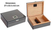 Desktop Humidor - Carbon  + Digital Hygrometer