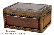 The Nottingham - Wood and Leather Humidor