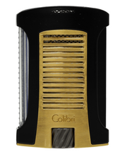 Colibri Daytona Single Jet Lighter - Matte Black & Brushed Gold