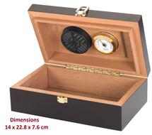 Travel 12 Compact Cigar Humidor - Mahogany