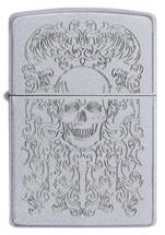 Zippo  - Skull Design Satin Chrome
