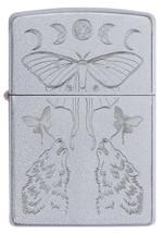 Zippo  - Butterfly & Wolf Design