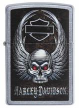 Zippo  - Harley Davidson Skull Street Chrome