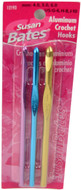 Susan Bates Silvalume 3-Pack Aluminum Crochet Hooks (Sizes 4 mm - 6 mm)