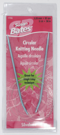 "Susan Bates Silvalume 36"" Circular Knitting Needle (Size US 3 - 3.25 mm)"