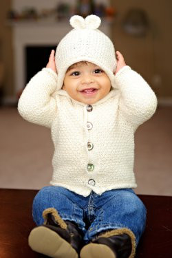 Tot Toppers Patterns Sugar Bear Hooded Cardi