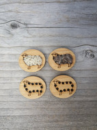 "Katrinkles Sheep Button 3/4"" Stitchable Buttons (Each)"