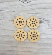 "Katrinkles Stitchable Flower Button 1"" (Each)"