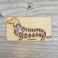 Katrinkles Dachshund Dog Knitting Needle Gauge