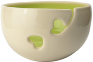Lime Ceramic Yarn Bowl by Madeleine Coomey