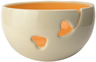 Orange Ceramic Yarn Bowl by Madeleine Coomey