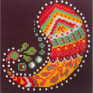 "Diamond Dotz Paisley Groove 9.75"" x 9.75"" Embroidery Facet Art Kit"