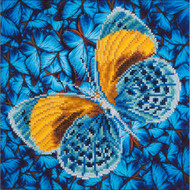 "Diamond Dotz Flutter By Gold 15"" x 15"" Embroidery Facet Art Kit"