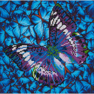 "Diamond Dotz Flutter By Mauve 15"" x 15"" Embroidery Facet Art Kit"