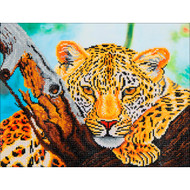 "Diamond Dotz Leopard Look 21.75"" x 17.25"" Embroidery Facet Art Kit"