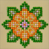 "Diamond Dotz Flower Mandala 1 4.75"" x 4.75"" Embroidery Facet Art Kit"