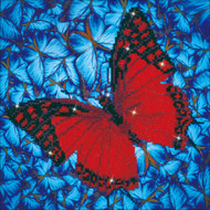 "Diamond Dotz Flutter By Red 14"" x 14"" Embroidery Facet Art Kit"