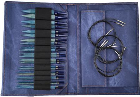 """LYKKE Indigo 5"""" Interchangeable Circular Knitting Needles Set (12 Pairs)"""