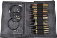 "LYKKE Driftwood 5"" Interchangeable Circular Knitting Needles Set (12 Pairs) - Grey Denim"