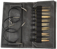 "LYKKE Driftwood 3.5"" Interchangeable Circular Knitting Needles Set (9 Pairs) - Grey Denim"