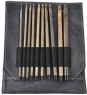 "LYKKE Driftwood 10-Pack 6"" Crochet Hook Set - Grey Denim"