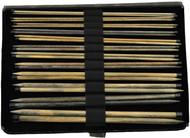 "LYKKE Driftwood 14"" Straight Single Pointed Knitting Needles Set (12 Pairs) - Grey Denim"