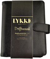 "LYKKE Driftwood 40-Pack 6"" Double Pointed Knitting Needles Small Set (Sizes US 0 - US 5) - Black Faux Leather"