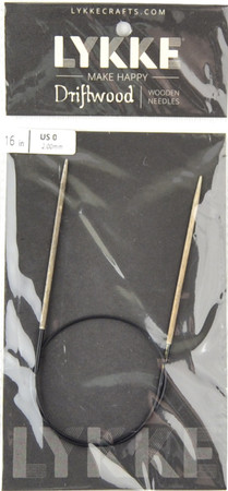 "LYKKE Driftwood 16"" Circular Knitting Needle (Size US 0 - 2 mm)"