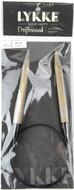 "LYKKE Driftwood 24"" Circular Knitting Needle (Size US 13 - 9 mm)"