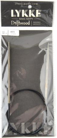 "LYKKE Driftwood 32"" Circular Knitting Needle (Size US 5 - 3.75 mm)"